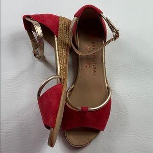 Nwot Eric Michael handmade in Spain suede sandals